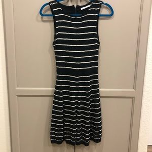 Alice + Olivia metallic striped sweater dress